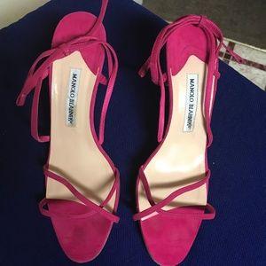 Manolo Blahnik Women's Hot Pink Heels; Size 40